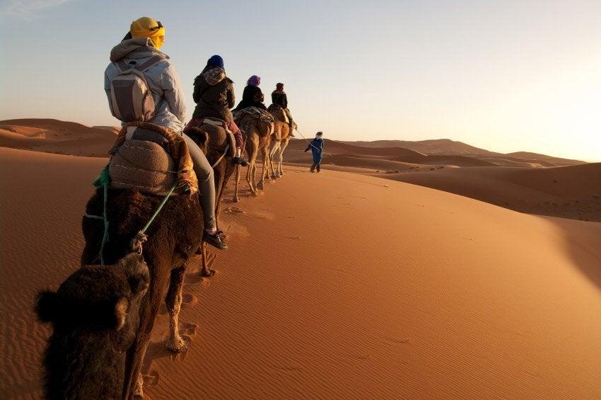 Adentrándonos en el desierto de Merzouga