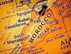 Como llegar a Fez, mapa