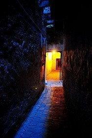 Seguridad en Fez por la noche