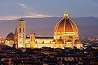 The Cathedral of Florence at dusk