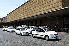 Taxi nella stazione ferroviaria