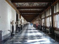 Interior de la Galería Uffizi