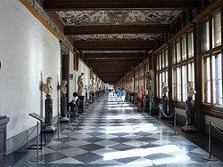 Galeria Uffizi, interior