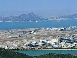 Aeropuerto de Hong Kong desde el aire