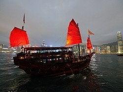 Junto chino en la Bahía Victoria