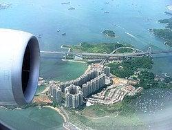 Llegar a Hong Kong en avión