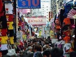 Uno de los mercados de Kowloon