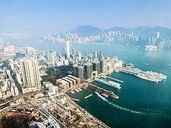 Vistas desde el Sky100, el mirador del International Commerce Center