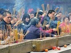 Templo Wong Tai Sin, ofrendas
