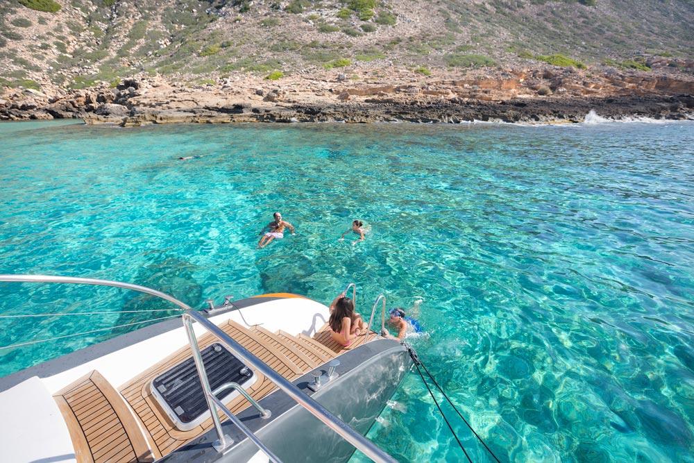Disfrutando del mar en Formentera