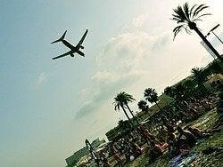 Llegando a Ibiza en avión