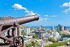 Port Louis desde el Fuerte Adelaida