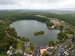 Grand Bassin desde el helicóptero