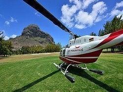 Isla Mauricio en helicóptero
