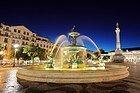 Rossio Square, fountain