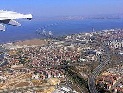 Flying over Lisbon