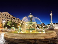 Rossio Square, fountain