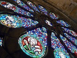 Rose window in the Lisbon Cathedral