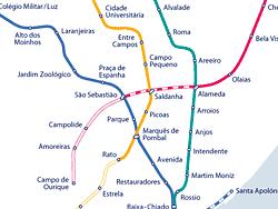 Plano del metro de Lisboa
