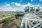 London Eye, vistas desde la cabina