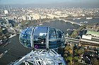 London Eye, viste della zona nord di Londra