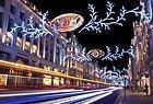 Christmas lights, Regent Street