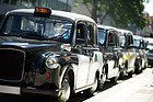 Black cabs in London