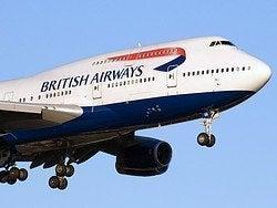 Arrivando a Londra in aereo