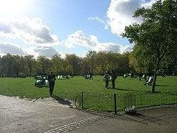 Tomando el sol en el parque