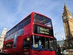 Autobús en Londres, Westminster