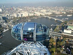 London Eye, vistas del norte de Londres