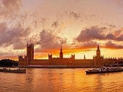 Londres à la tombée de la nuit