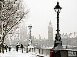 Londres enneigé en hiver