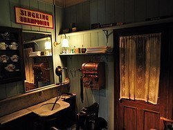 Museum of London, barber shop