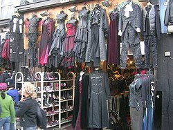 Camden Town, magasin de vêtements