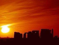 Stonehenge al atardecer