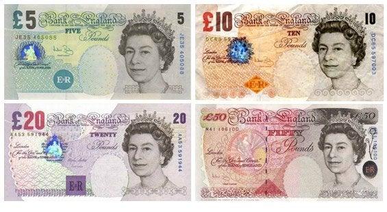 Billetes de Londres