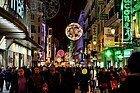 Calle Preciados en Navidad