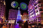 Plaza del Callao a Natale