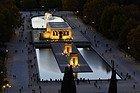Templo de Debod desde el aire