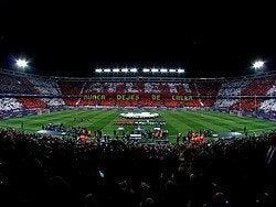 Disfrutando de un partido del Atlético de Madrid