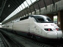 Trem de alta velocidade a Madrid