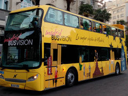 Recorriendo Madrid en autobús panorámico
