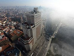 Madrid con niebla