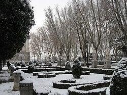 Tiempo en Madrid, nevado
