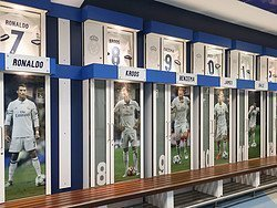 Tour del Bernabéu, vestuario del Real Madrid