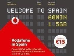 Tarjeta SIM Vodafone in Spain