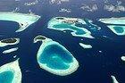 Atolones de Maldivas desde el cielo