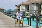 Six Senses Laamu, empleado por el jetty