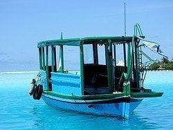 Barco de pesca típico de Maldivas